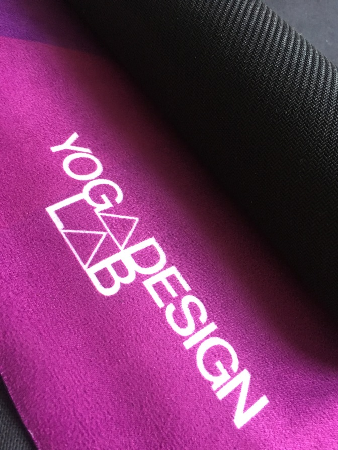 Testing new yoga mat from Yoga Design Lab